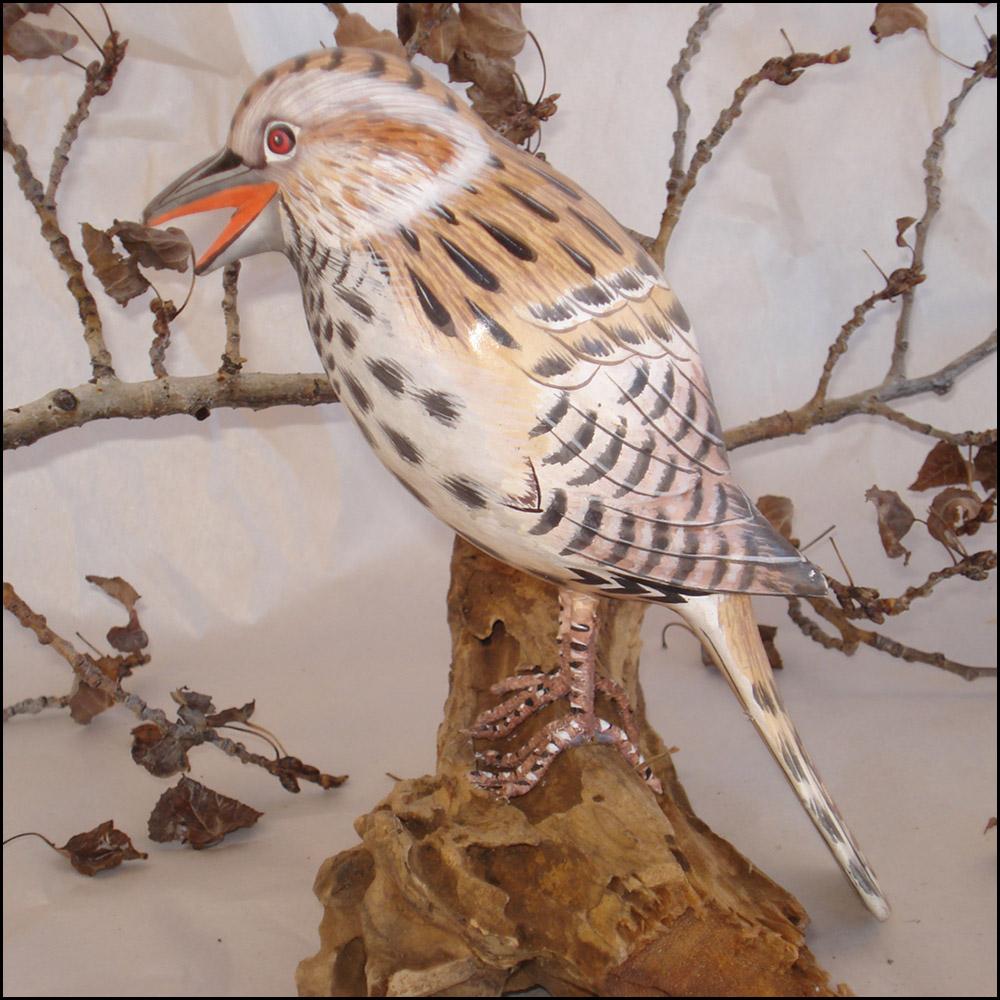 Cactus Wren Bird Handmade Woodcraft