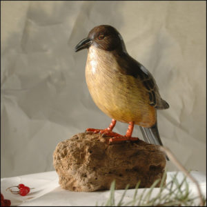 Say's phoebe Bird Handmade Woodcraft
