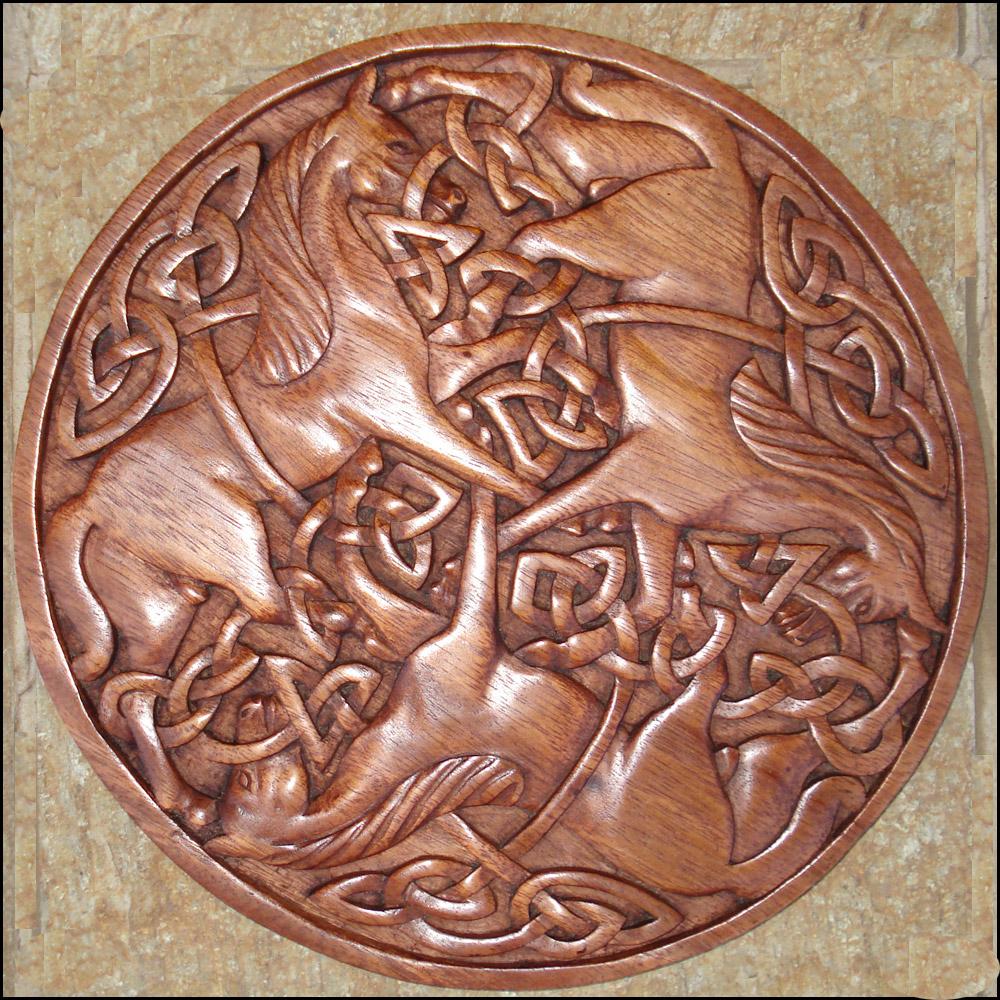 Cm 14 Celtic Motif Celtic Viking And Lamp Woodcraft Carvings